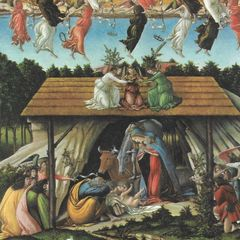 "Botticelli - ""Mystic Nativity"" Antique Postcard"