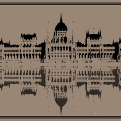 """The Hungarian Parliament Building"" Kraft Postcard"