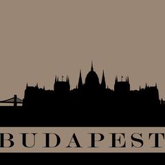 """""""Budapest"""" Sziluett képeslap"""