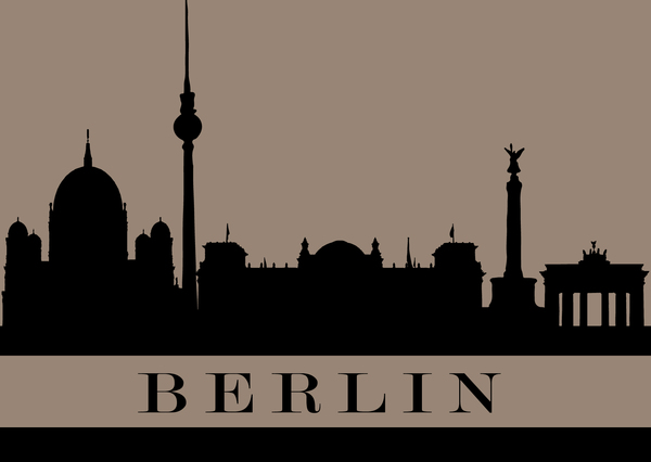 City silhouette postcard berlin kc12