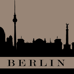 """Berlin"" City Silhouette Postcard"