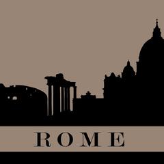 """Rome"" City Silhouette Postcard"