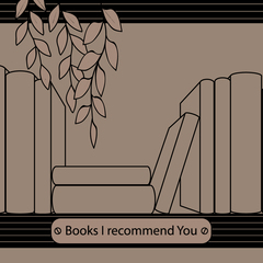 """Books I recommend You"" Kraft Postcard"