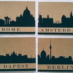 """Budapest"" City Silhouette Postcard"