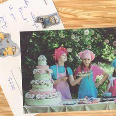 Geburtstagstorte Postkarte