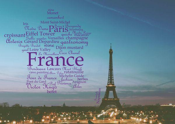 France wordcloud postcardsisters gf109c