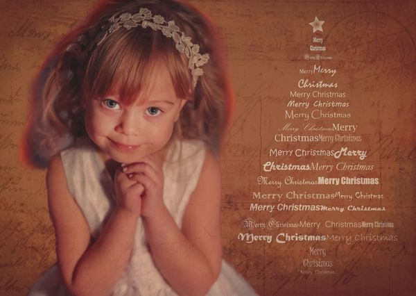 Christmas girl postcardsisters cm107c