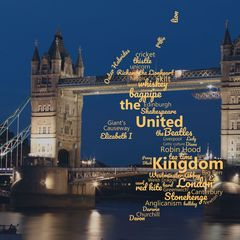 Greetings from the United Kingdom - Wordcloud Postcard