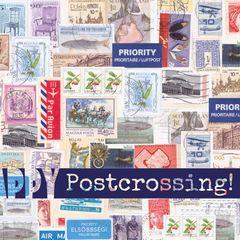 """""""Happy Postcrossing"""" bélyegmintás képeslap"""