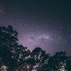 Sternenklarer Himmel - Postkarte