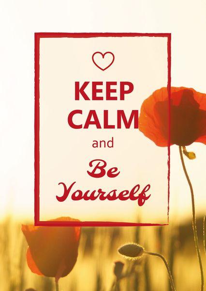 Keep calm be yourself postcardsisters ke103c