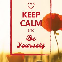 """Keep Calm and Be Yourself"" képeslap"