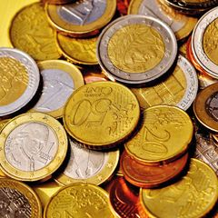 Euro Coins - Postcard