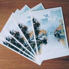 """""""Harbour of Siófok"""" Postcard"""