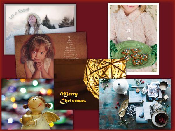 Christmas 6 pcs postcard bundle pack15c