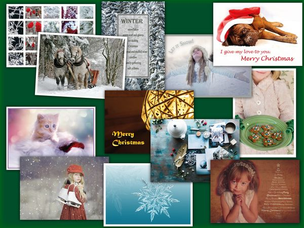 Christmas 12 pcs postcard bundle pack23c