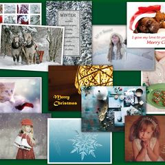 Christmas and Winter - 20 pcs Postcards Bundle