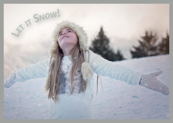 Let it snow postcardsisters cm110c