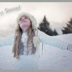 """Let It Snow!"" Christmas Postcard"