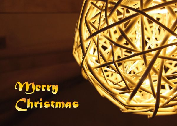 Christmas light postcard cm105c