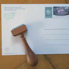 Hungary - Wood Stamp with Handle