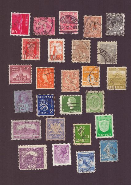 Old stamps from all around the world postcardsisters ps123c