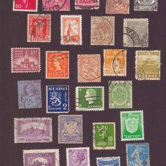 Régi bélyegek a világ minden tájáról - Képeslap