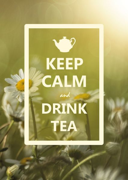 Keep calm and drink tea postcard ke105c