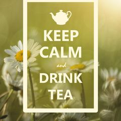 """Keep Calm and Drink Tea"" Postkarte"