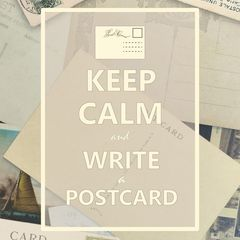 """Keep Calm and Write a Postcard"" Postkarte"