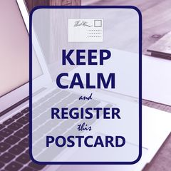 """Keep Calm and Register This Postcard"" Postcard"