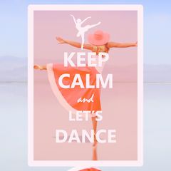 """Keep Calm and Let's Dance"" Postcard"