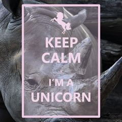 """Keep Calm I'm a Unicorn"" Postkarte"