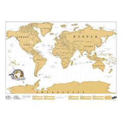 World Scratch Map Poster