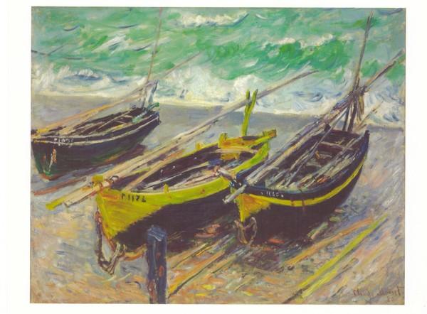 Monet boats postcard mng103