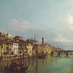 Bellotto: The Arno in Florence - Oversized Art Postcard