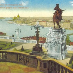 Outlook toward the parliament - Budapest Postcard