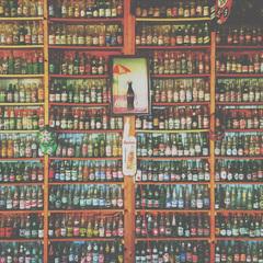Flaschen Postkarte