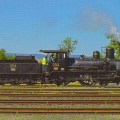 Steam engine - Postcard