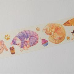 Washi tape - Macskák és édességek