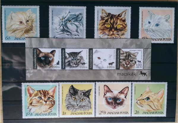 Cats thematic stamp collection them01c