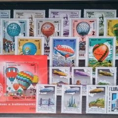 Hot Air Balloons and Airships - Thematic Stamp Collection