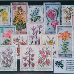 Blumen - Thematische Briefmarken-Set
