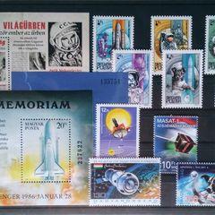 Weltraumforschung - Thematische Briefmarken-Set