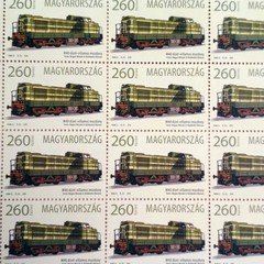 The M40 diesel-electric locomotive is 50 years old - Hungarian Stamp