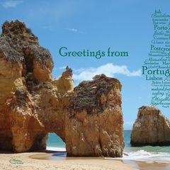 Greetings from Portugal - Szófelhő képeslap