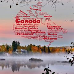 Greetings from Canada - Wordcloud Postcard