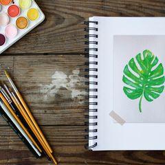 Akvarellfestés - Képeslap