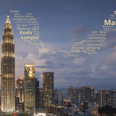 Greetings from Malaysia - Wordcloud Postcard