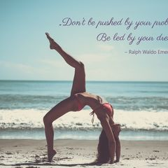 Yoga - Quote Postcard